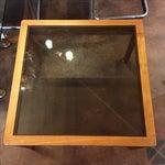 Image of Mid-Century Teak & Smoked Glass Top Coffee Table