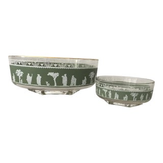 Jasperware Chip & Dip Bowls - A Pair