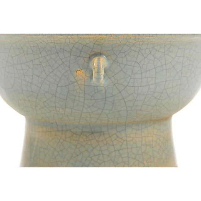Chinese Antique Crackled Green Celadon Bowl - Image 3 of 9