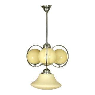 Austrian Art Deco ball chandelier