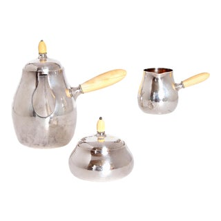 Sterling Silver Coffee Set by Georg Jensen