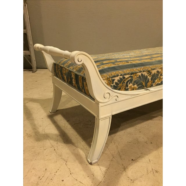 Antique 1920s White Directoire Style Chaise Lounge - Image 4 of 11