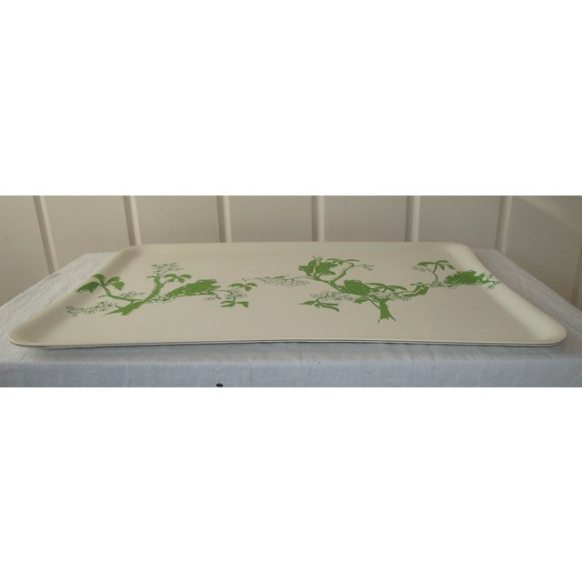 Image of 1970s Kelly Green Frog Bar Serving Tray