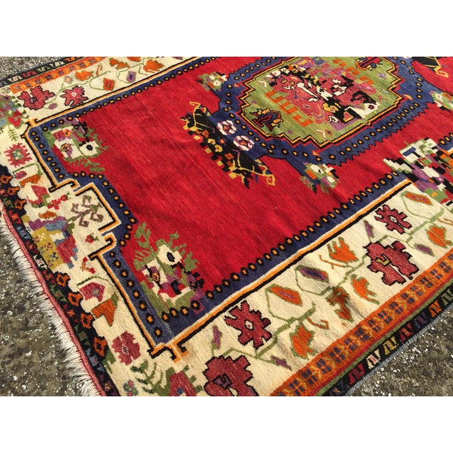 """Vintage Hand Knotted Anatolian Rug - 5'1"""" x 8' - Image 7 of 8"""