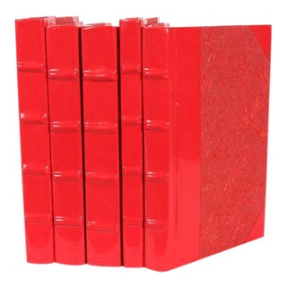 Patent Leather Chili Red Books - Set of 5