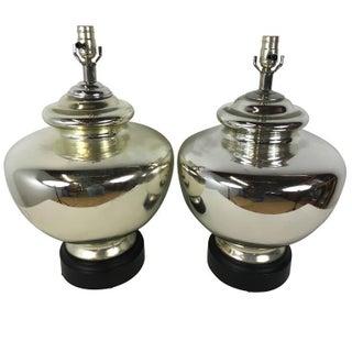 Vintage Mercury Glass Lamps - Pair