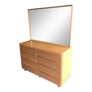 Circa 1952 Mid-Century Modern Heywood-Wakefield 8-Drawer Dresser With Mirror - A Pair