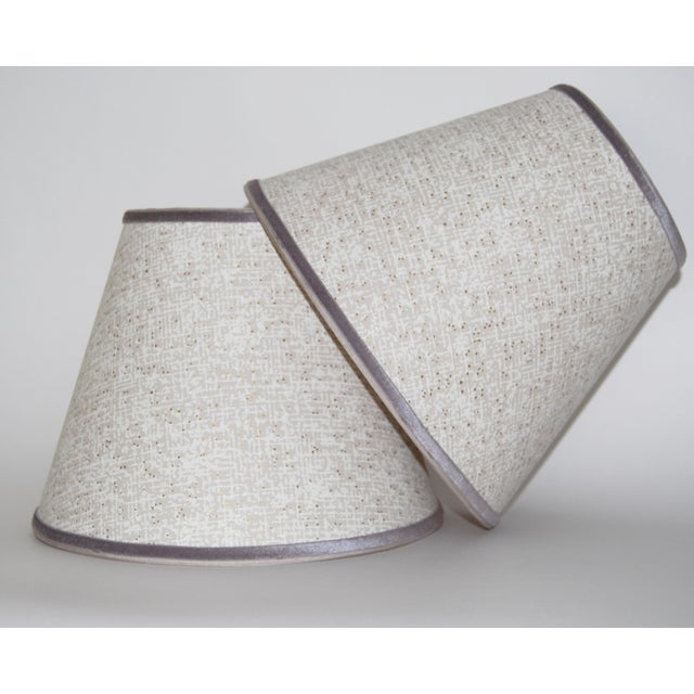 Vintage 1950s Gray Wallpaper Lampshades - A Pair Chairish