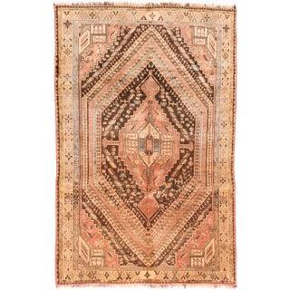 "Vintage Shiraz Qashqai Persian Rug - 6' X 9'4"""