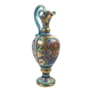 Deruta Italian Byzantine Mosaic Ceramic Ewer