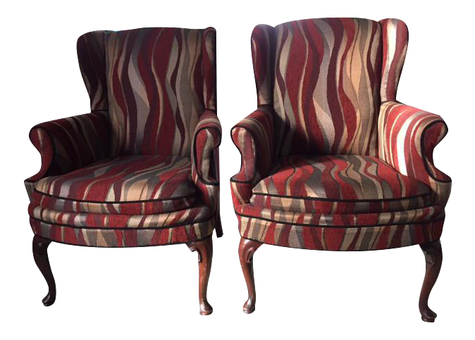 Contemporary Custom Upholstered Chairs   A Pair