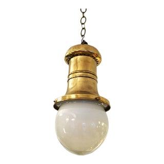 Antique Art Nouveau department store hanging lamp