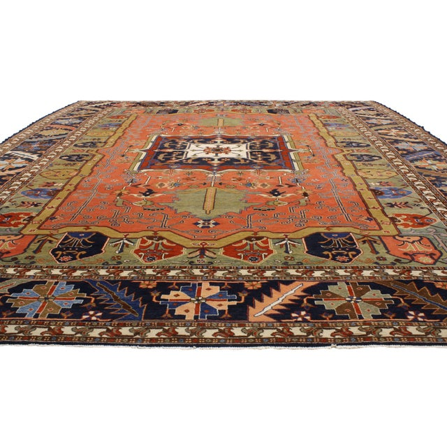 "Contemporary Persian Heriz Rug - 15' x 18'10"" - Image 3 of 9"