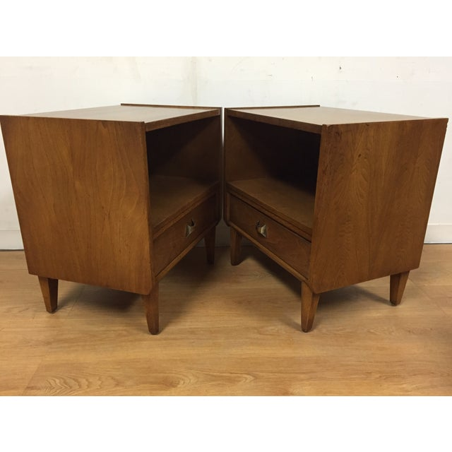 Brasilia Style Nightstands - a Pair - Image 4 of 11