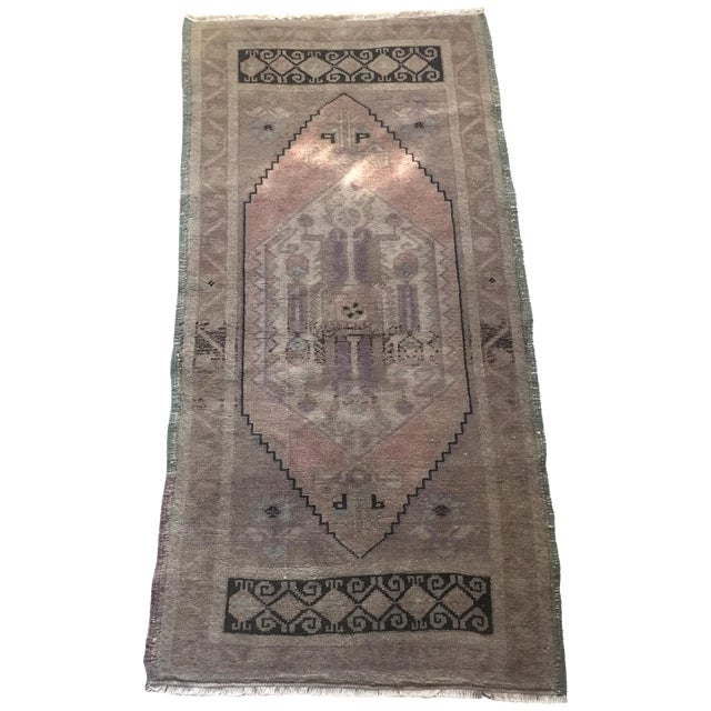 "Turkish Oushak Silk and Wool Rug - 1'8"" X 3'5"" - Image 1 of 8"