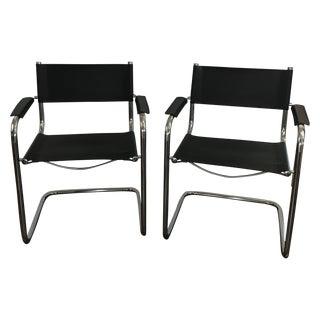 Mart Stam Style Cantilever Chairs - Pair