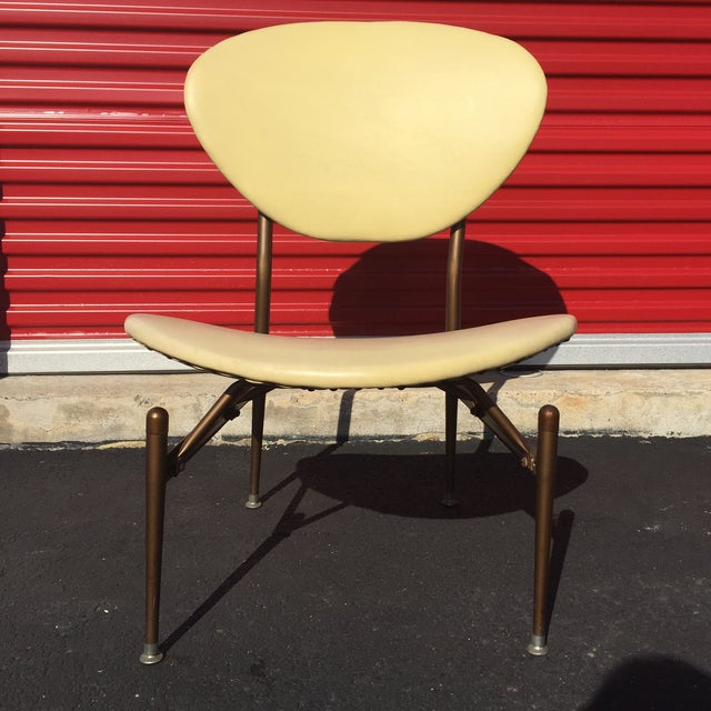 Mid-Century Modern Metal Framed Chair - Image 3 of 9