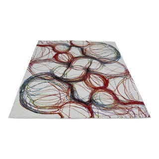 Modern Colorful Bubbles Rug - 5′3″ × 7′7″