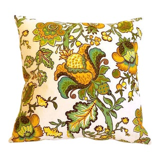 Waverly Floral Yellow-Green Pillow