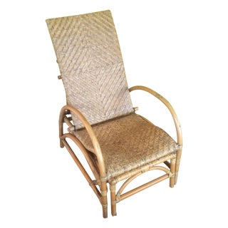 Bamboo Chaise Lounge Chair Style of Francis Mair