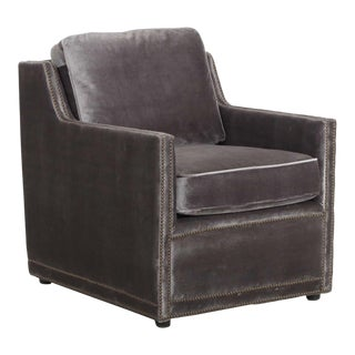 "Regina-Andrew Design ""Posh"" Charcoal Velvet Club Chair"