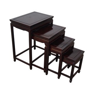 Chinese Rosewood Nesting Tables - 4