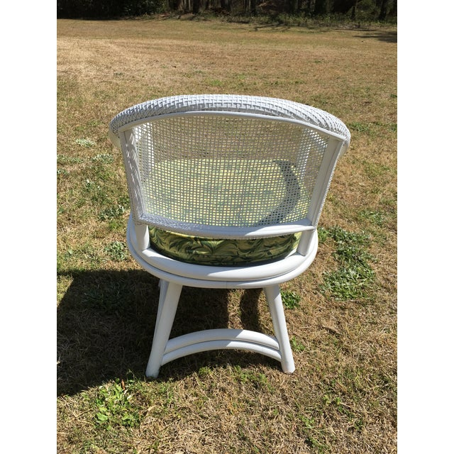 Ficks Reed Cane Swivel Chairs - A Pair - Image 6 of 10