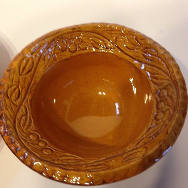 Vintage 1966 CA Pottery Chip & Dip Dishes - A Pair - Image 5 of 6