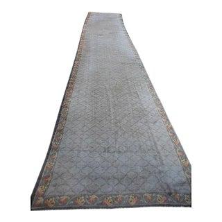 """Antique European Donegal Carpet - 5'9"""" x 31'"""