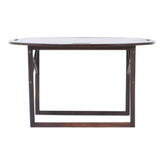 Mid-Century Rosewood Tray on Stand or Cocktail Table
