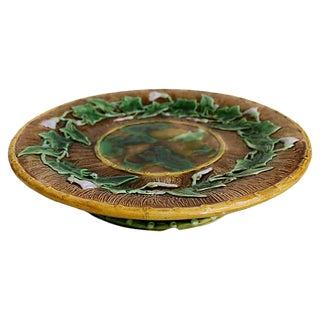 Antique English Majolica Cheese Stand