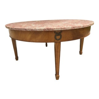 Italian Rose Marble Top Coffee Table