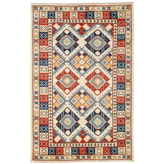 """Tribal Traditional Hand Knotted Area Rug - 4'10"""" X 7'6"""""""