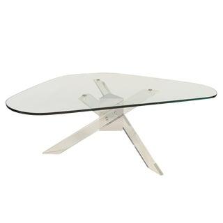 Mid-Century Modern Acrylic, Chrome & Glass Table