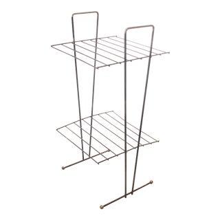 Mid Century Modern Black Metal Wire Stand