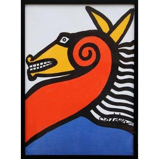 """Alexander Calder, """"Seahorse,"""" Lithograph Poster"""