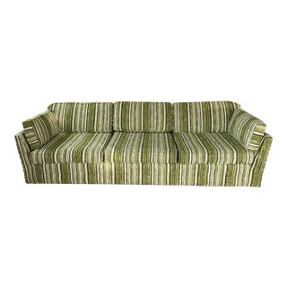 Retro Striped Sectional Couch