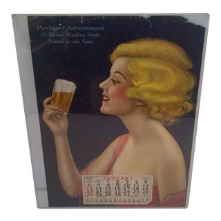Vintage Advertising Calendar 1935