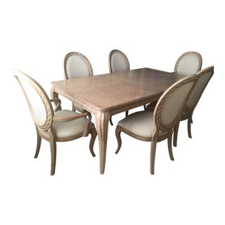 Bernhardt Tuscan Traditional Mediterranean Dining Room Set - Table 6 Chairs