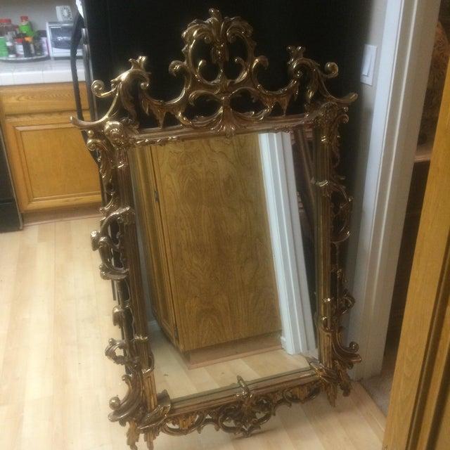 Image of Gold Ornate Framed Mirror