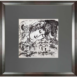 Marc Chagall Original Lithograph, The Village