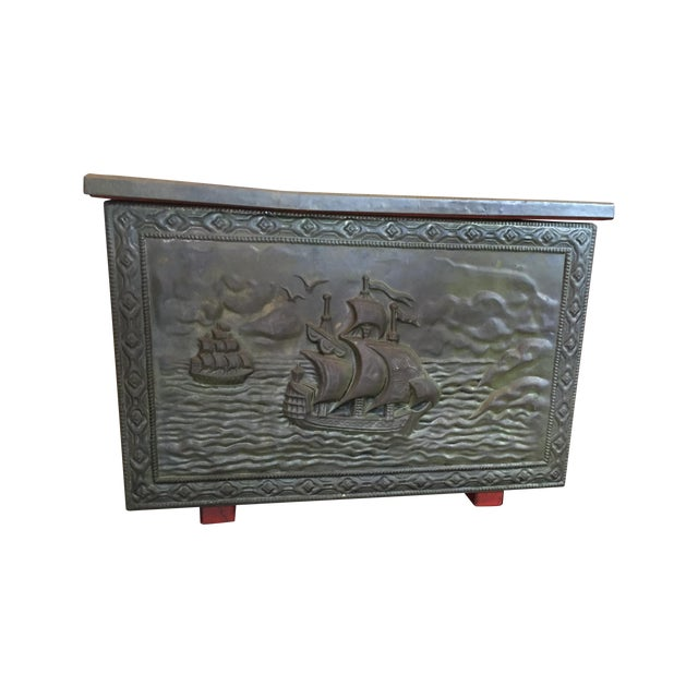 Vintage Metal Nautical Box - Image 1 of 7