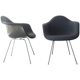 1984 Upholstered Eames Shell Chairs by Herman Miller - A Pair