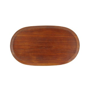 Large Oval Teak Tray