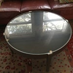 Image of Crate & Barrel Round Metal Coffee Table