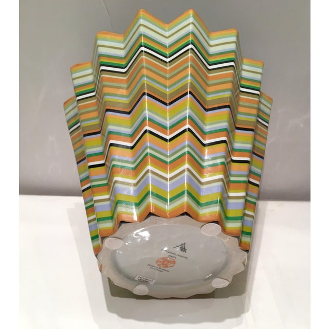 Image of Fabienne Jouvin Paris Chevron Decorative Bowl