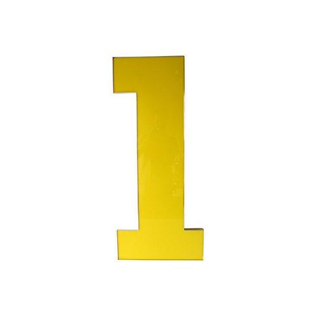 Image of Vintage Oversized Yellow Number 1