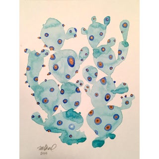 "Contemporary ""Tropical Cactus"" Watercolor Painting"