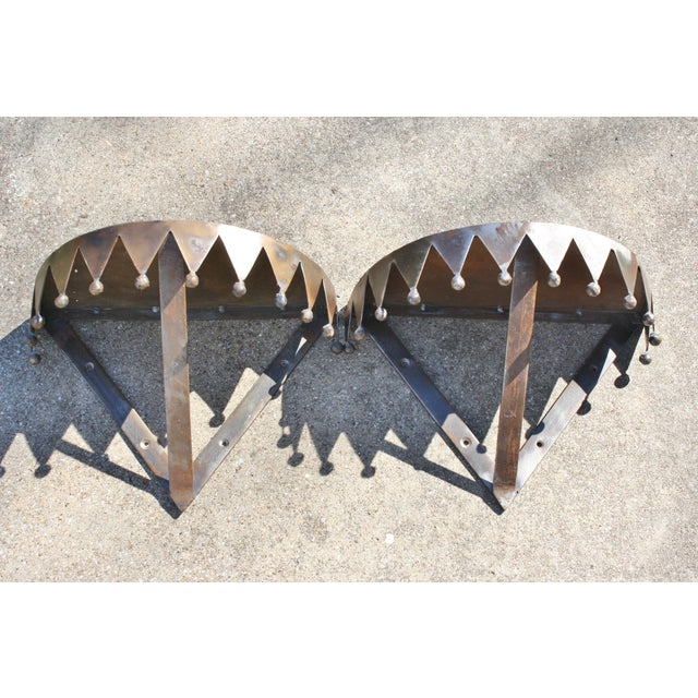 Image of Vintage Iron Wall Shelves - Pair
