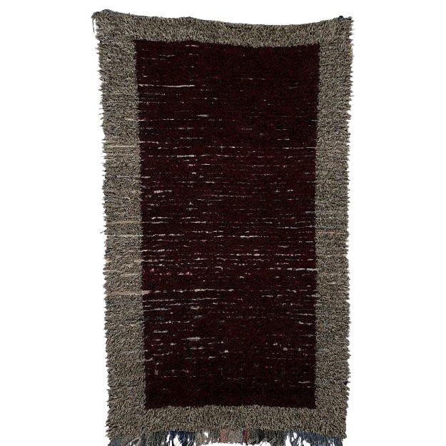 "Moroccan Boucherouite Carpet - 7'6""x4'7"" - Image 1 of 2"